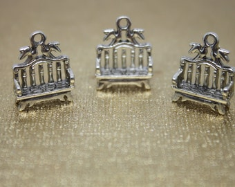30 PC Bench Charm, Antique Silver Color. Ships from Los Angeles, USA
