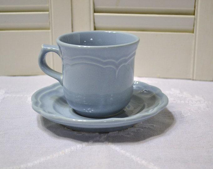 Pfaltzgraff Gazebo Blue Cup and Saucer Replacement USA PanchosPorch