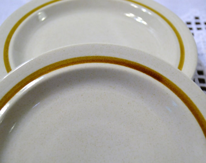 Vintage Stonecraft KA100 Stoneware Bread Plate Set of 4 Beige Earth Tone Japan Panchosporch