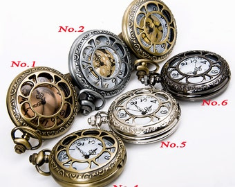 HOT Sunflower pocket watch necklace pendants, watch necklace, vintage style watch necklace pendant, 31.5'' chain