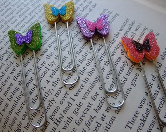 Mini Butterflies Paper Clips for School, Office or Personal Clips, Set of 4