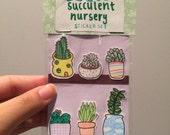 succulent nursery sticker set