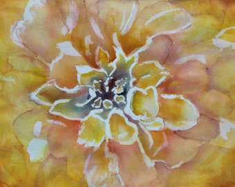Floral Abstraction #1: Yellow Marigold