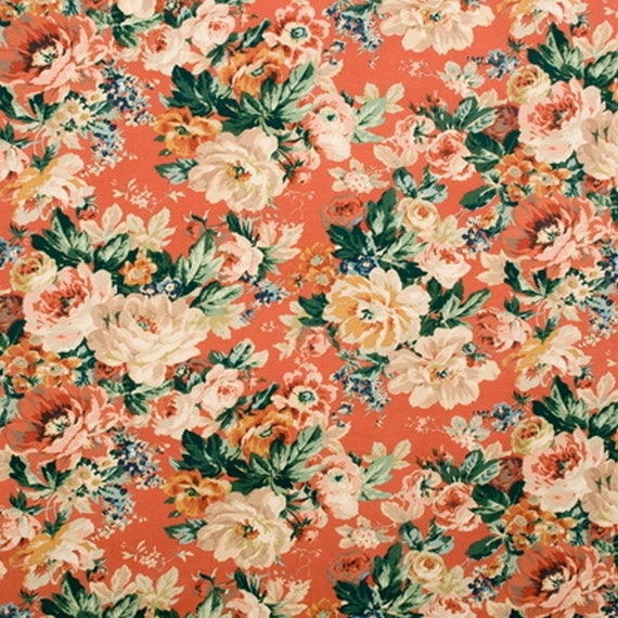 Lee Jofa England Castletown Floral Print Coral Cotton