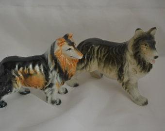 Sale:  Vintage Japanese Ceramic Callie Figurines | 2 Piece Set