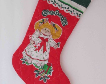 Cabbage Patch Kids Christmas Stocking Vintage 1980s (French & English)