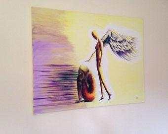 "Original Acrylic on Canvas 'Give Me Peace'. (28"" x 36"" / 71cm x 91cm)"