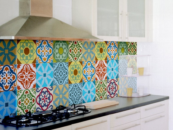 tile decals set of 15 tile stickers for kitchen backsplash