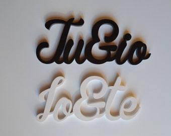 Wooden lettering