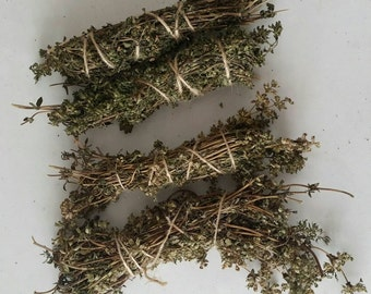 Thyme natural fire starter, Thyme herb bundle, herb kindling, bbq fire starter, bbq kindling, natural fire lighter, bbq fire lighter