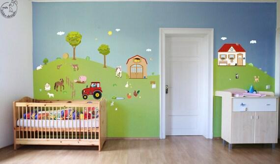 Kinderzimmer wandgestaltung bauernhof  Chestha.com | Design Wandtattoo Babyzimmer