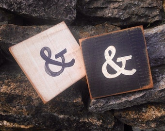 Scrabble Ampersand Wall Sign