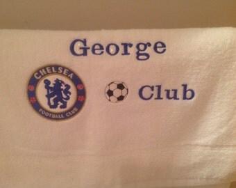 Personalised Chelsea hand towel