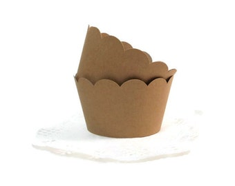 Kraft Cupcake Wrappers, Cupcake Holders, 12 Ct., Standard Size, Party Decoration, Ships in 2-3 Business Days
