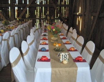 "Burlap Table Runners 14"" x 60"" Inch"