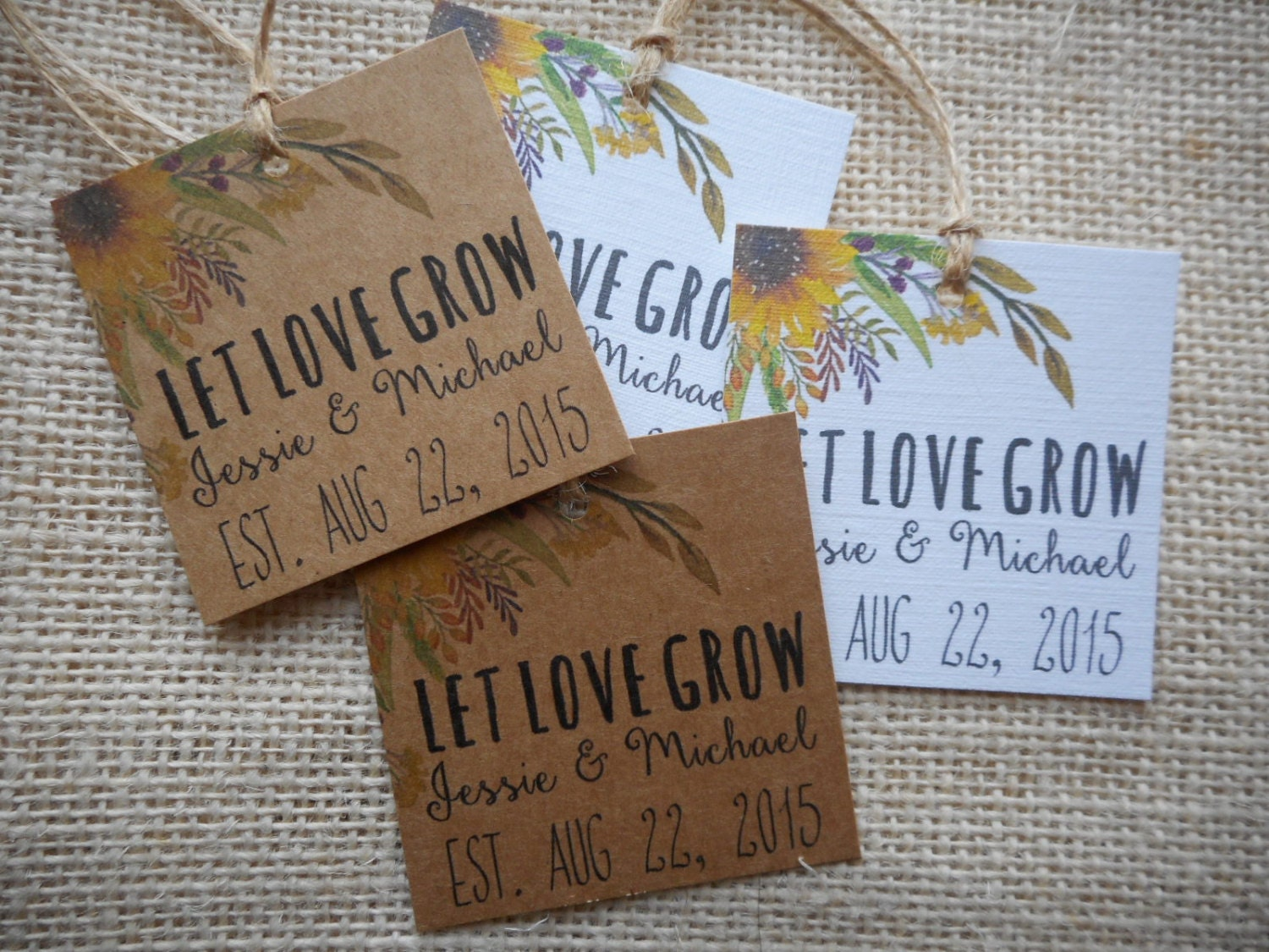 Free Printable Wedding Gift Tags: Custom Favor Tags Printable Wedding Favor Tags Let Love Grow