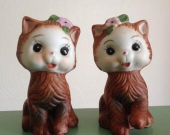 Kitty Cat Salt Pepper Shakers
