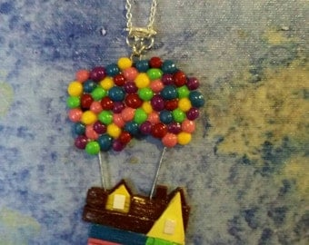 "Miniature ""UP"" House Necklace"