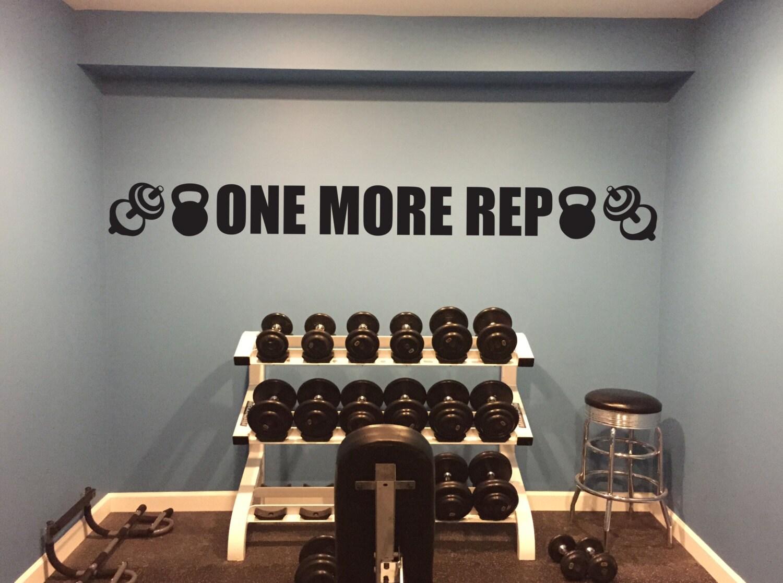 Basement gym ideas excel wall decal