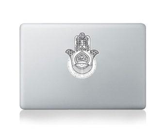 Hamsa Vinyl Sticker for Macbook (13/15) or Laptop by Kitty Foster