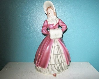 Wien Victorian Lady Figurine, Made In Austria, Vintage Wien, Collectible Wien Figurine