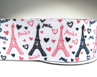 """4 yards of 1.5 inch """"Paris"""" grosgrain ribbon"""