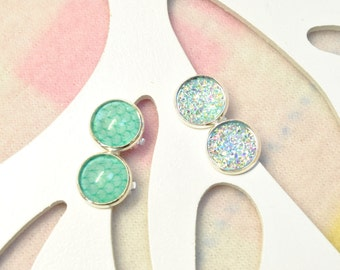 Girls clip on earrings - Blue