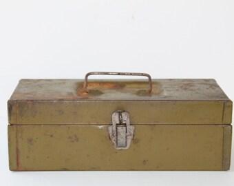 1950s Metal Tool Box