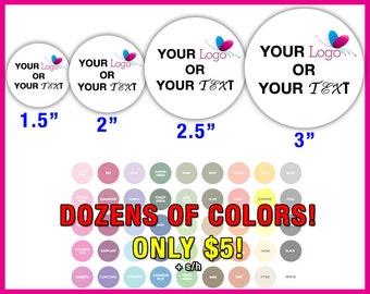 Custom Stickers Round - Round Custom Stickers - Circle Custom Stickers - Custom Circle Stickers - Custom Stickers Circle - Anyway U Want It!