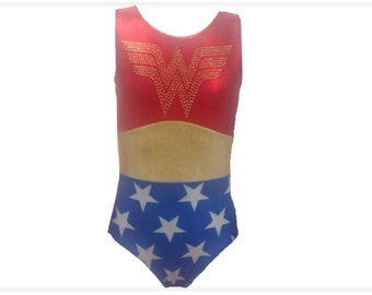 Wonder girl gymnastics leotard