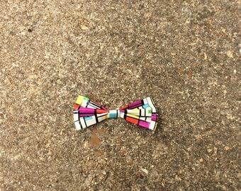 Color Blocks Ducttape Bow