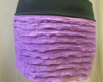 Belly Dance Mini Skirt Purple Ruffled Yoga Skirt