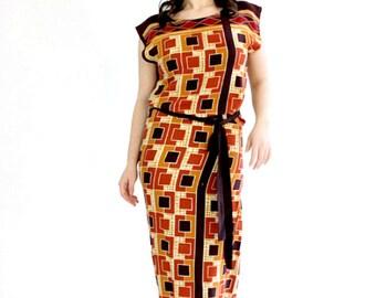 The classic square maxi dress