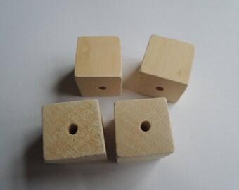 10pcs 25mm square wood No Varnish(W1092)