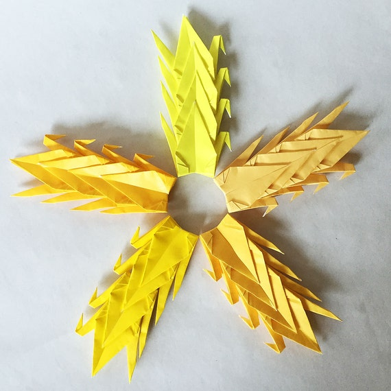1000 3 yellow tones origami paper cranes senbazuru for 1000 paper cranes wedding decoration