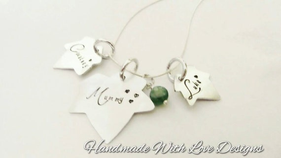 Ivy Family Hand Stamped Necklace