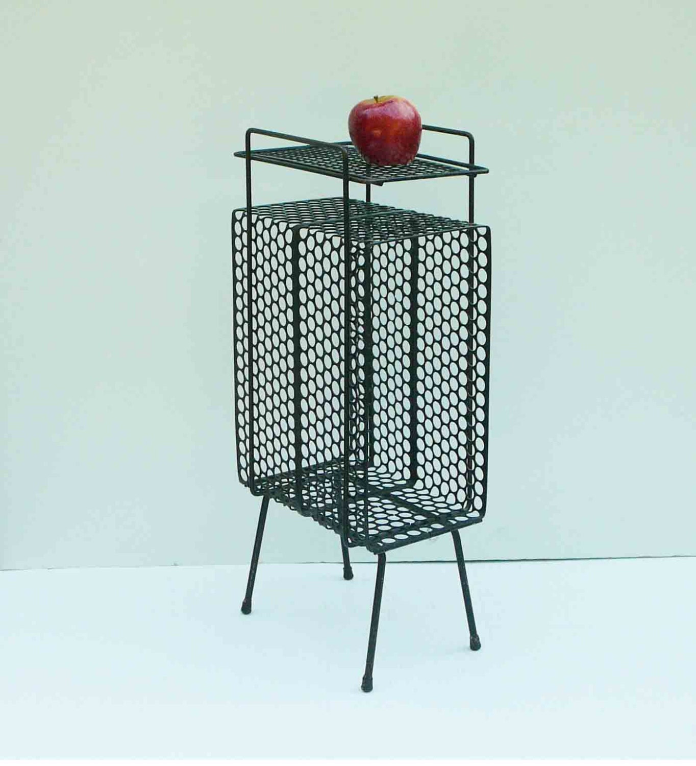 Vintage Metal Mesh Table Mid Century Side Table Eclectic Retro
