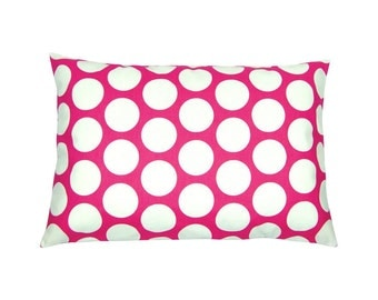 Cushion cover points DANDIE pink white 40 x 60 cm