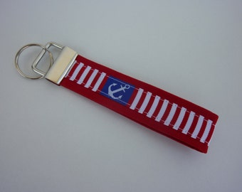 "Key chain ""Anchors"" in red/white/blue"
