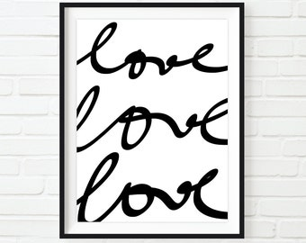 Love Printable Wall Art, Instant Download, Poster Print for the Home