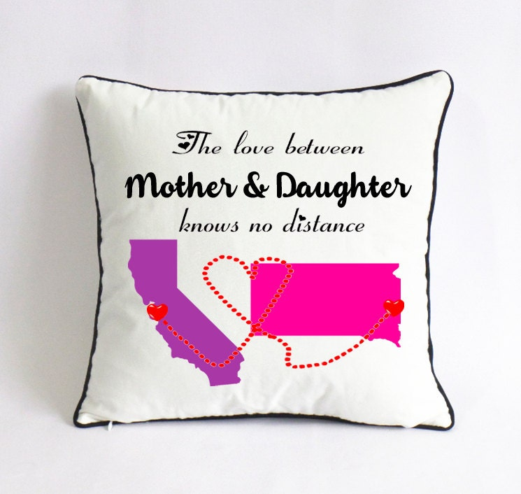 long distance mother daughter pillowcase mother day by. Black Bedroom Furniture Sets. Home Design Ideas