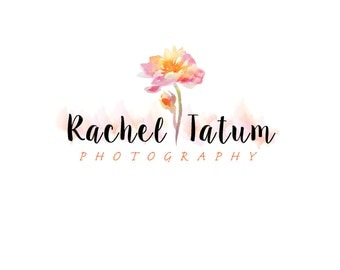"Custom Premade Photography Logo and Watermark ""Painted Flower"""