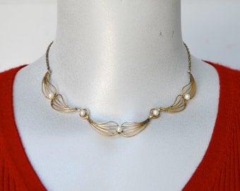 Cultured Pearl Gold Filled Necklace Vintage