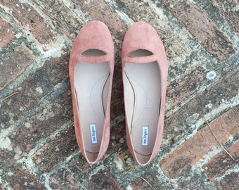 "SALE suede leather ballet flat ""TERESA"""