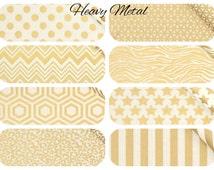Gold CRIB BEDDING - Heavy Metal by Camelot Fabrics - Cheetah, Star, Dot, Zebra Nursery Bedding - You Customize Your Baby Bedding