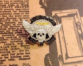Ride to Live Sunset Skull Enamel Lapel Pin