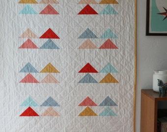 Custom modern baby quilt--simple geometric pattern