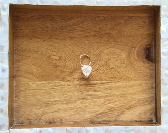 Wrapped Crystal Point Ring