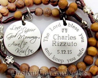 Baptism gifts from Godparents.  Baptism Gift. Boy Baptism Gift. Godmother. Catholic. Jewelry. Custom. Personalized Rosary. Godfather. L1-Dbl