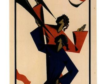 Joseph Binder, Music and Theaterfest 1924 REPRO Vintage Postcard